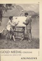 # ATKINSONS ENGLISH LAVENDER 1950s Italy Advert Pubblicità Publicitè Parfum Perfume Profumo Cosmetics Architecte - Sin Clasificación