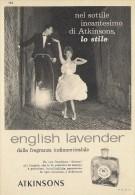 # ATKINSONS ENGLISH LAVENDER 1950s Italy Advert Pubblicità Publicitè Parfum Perfume Profumo Cosmetics Old Bike - Perfume & Beauty