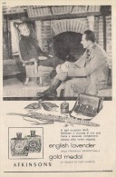 # ATKINSONS ENGLISH LAVENDER 1950s Italy Advert Pubblicità Publicitè Parfum Perfume Profumo Cosmetics Hunt Chasse - Profumi & Bellezza