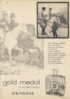 # ATKINSONS ENGLISH LAVENDER 1950s Italy Advert Pubblicità Publicitè Parfum Perfume Profumo Cosmetics Horse - Profumi & Bellezza
