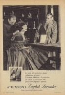 # ATKINSONS ENGLISH LAVENDER 1950s Italy Advert Pubblicità Publicitè Parfum Perfume Profumo Cosmetics - Profumi & Bellezza