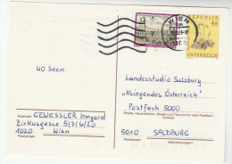 AUSTRIA 1s Stamps On UPRATED 4s FLOWER  Postal STATIONERY CARD Cover - Stamped Stationery