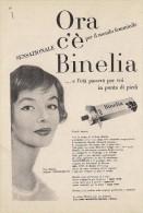 # CREMA DI BELLEZZA CIBA BINELIA 1950s Advert Pubblicità Publicitè Reklame Moisturizing Cream Creme Hydratante Protector - Sin Clasificación