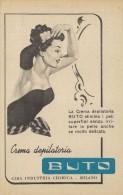 # CREMA DEPILATORIA CIBA BUTO 1950s Advert Pubblicità Publicitè Reklame Hair Removal Cream Creme Depilatoire Protector - Sin Clasificación