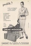 # CREME MOUSON 1950s Advert Pubblicità Publicitè Reklame Moisturizing Cream Creme Hydratante Protector - Perfume & Beauty