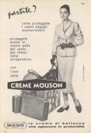 # CREME MOUSON 1950s Advert Pubblicità Publicitè Reklame Moisturizing Cream Creme Hydratante Protector - Profumi & Bellezza