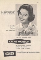 # CREME MOUSON 1950s Advert Pubblicità Publicitè Reklame Moisturizing Cream Creme Hydratante Protector - Parfum & Kosmetik