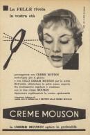# CREME MOUSON 1950s Advert Pubblicità Publicitè Reklame Moisturizing Cream Creme Hydratante Protector - Unclassified