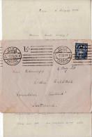 LETTLAND 1924 - 20 Santimu Auf Brief Von Riga Nach Grundlsee, Brief Mit Inhalt (handgeschriebener Brief) - Lettland