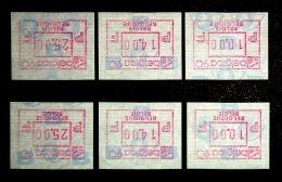 """BELGICA 90 """"KOPSTAANDE ATM"""": Serie NF+ FN - Frankeervignetten"""