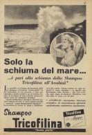 # SHAMPOO TRICOFILINA ITALY 1950s Advert Pubblicità Publicitè Reklame Hair Cheveux Haar Beautè Ocean Waves Flots - Sin Clasificación