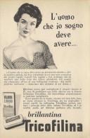 # BRILLANTINA TRICOFILINA, ITALY 1950s Advert Pubblicità Publicitè Reklame Hair Fixer Fixateur Cheveux Fijador Haar - Unclassified