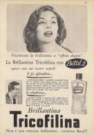# BRILLANTINA TRICOFILINA, ITALY 1950s Advert Pubblicità Publicitè Reklame Hair Fixer Fixateur Cheveux Fijador Haar - Parfums & Beauté