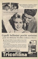 # BRILLANTINA TRICOFILINA, ITALY 1950s Advert Pubblicità Publicitè Reklame Hair Fixer Fixateur Cheveux Fijador Haar - Sin Clasificación