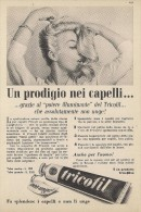 # CREMA TRICOFIL TRICOFILINA, ITALY 1950s Advert Pubblicità Publicitè Hair Fixer Fixateur Cheveux Fijador Haar - Profumi & Bellezza