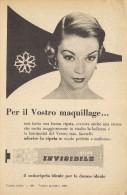 # CREMA INVISIBILE NIVEA 1950s Advert Pubblicità Publicitè Reklame Moisturizing Cream Creme Hydratante Protector - Perfume & Beauty