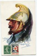 FRANCE THEME CROIX-ROUGE CARTE POSTALE N°3 NOS POILUS AVEC VIGNETTE Ste Fce SECOURS AUX BLESSES MILITAIRES.....1914-1915 - Commemorative Labels