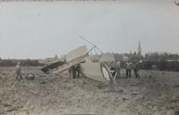 HONDSCHOOTE 3 PHOTOS CAPOTAGE CAUDRON G4  MATERIEL DE GUERRE AVION MILITARIA GUERRE 59 NORD 1916
