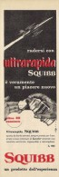 # SQUIBB SHAVING CREAM, ITALY 1950s Advert Pubblicità Publicitè Reklame Crema Barba Creme Rasage Rasierschaum AirFighter - Unclassified