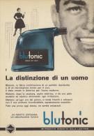 # BLU TONIC AFTER SHAVE LOTION, ITALY 1950s Advert Pubblicità Publicitè Reklame Barba Rasage Rasierschaum - Parfums & Beauté