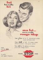 # ROUGE STOP PARIS 1950s Advert Pubblicità Publicitè Reklame Lipstick Rossetto Lapiz Labial Beautè - Perfume & Beauty