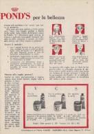 # POND'S CREAM 1950s Advert Pubblicità Publicitè Reklame Beauty Moisturizing Cream Creme Hydratante Protector - Sin Clasificación