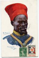 FRANCE THEME CROIX-ROUGE CARTE POSTALE N°11 NOS POILUS AVEC VIGNETTE Ste Fce SECOURS AUX BLESSES MILITAIRES....1914-1915 - Commemorative Labels