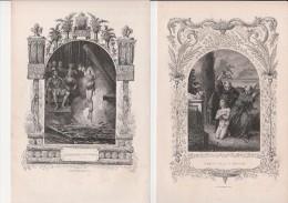 2 GRAVURES -SUPPLICE DU JEUNE CONRADIN- LES CHAMBRES ARDENTES - Livres, BD, Revues