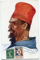 FRANCE THEME CROIX-ROUGE CARTE POSTALE N°12 NOS POILUS AVEC VIGNETTE Ste Fce SECOURS AUX BLESSES MILITAIRES....1914-1915 - Commemorative Labels
