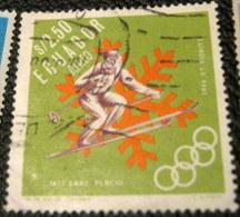 Ecuador 1966 Airmail - Winter Olympic Games - Grenoble, France $2.50 - Used - Ecuador