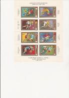 HONGRIE - POSTE AERIENNE N° 345 A 352 NEUF EN FEUILLET -CHAMPIONNAT D'EUROPE FOOT 1972 - Poste Aérienne