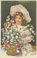Illustration: 2 Jeunes FEMMES Avec Leur Boîte à Chapeau:   Style Art Nouveau - Repro D'une Carte Ancienne - Illustrateurs & Photographes