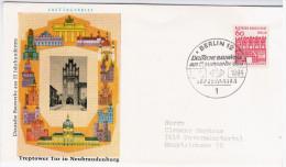 Germany Deutschland 1964 FDC Treptower Tor In Neubrandenburg, Deutsche Bauwerke Aus 12 Jahrhunderten, Canceled In Berlin - [5] Berlin