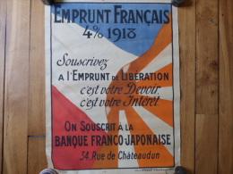 Affiche Banque Franco japonnaise guerre 1914 1918