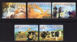 AUSTRALIEN 1998 - Landwirtschaft, Sheep, Cows - MiNr.1714-1718 Kompletter Satz - Landwirtschaft