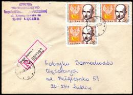Polen 1988 - Weltposttag, Postwappen - Reco Brief - Post