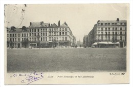 CPA Précurseur - LILLE, PLACE SEBASTOPOL ET RUE INKERMANN - Nord 59 - Circulé 1904 - Lille