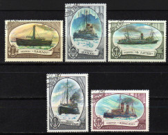 UdSSR 1976 - Eisbrecher, Icebreaker - MiNr.4558-4562 Kompletter Satz - Polare Shiffe & Eisbrecher