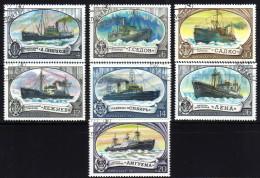 UdSSR 1977 - Eisbrecher, Icebreaker - MiNr.4614-4620 Kompletter Satz - Polare Shiffe & Eisbrecher