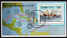 KUBA 1982 - Segelschiff Louisiane - Philexfrance 82 Paris - Block 72 - Schiffe