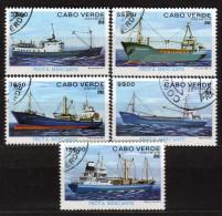 KAP VERDE 1980 - Frachtschiffe - MiNr.431-435 - Schiffe
