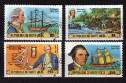 HAUTE-VOLTA 1978 - 250 Jahre Käpten James Cook - MiNr.719-722 - Schiffe