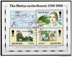 ISLE OF MAM 1989  - The Mutiny On The Bounty - Block 11 - Schiffe