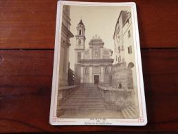 1880-1900 Photo Menton église De La Conception (06 Alpes Maritimes) - Oud (voor 1900)