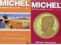 MICHEL Briefmarken Rundschau 6/2015 Neu 6€ New Stamps+coins World Catalogue And Magacine Of Germany ISBN 9 783954 025503 - German