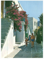 (515)  Greece - Paros Island (+ Greek Stamp At Back Of Card) - Guam