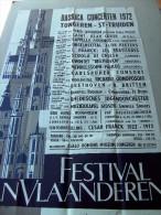 TONGEREN SINT-TRUIDEN Basilia concerten 1972 Festival van Vlaandren. Herman Verbaere inlichtinge: Gallo-Romeins museum