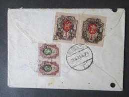 Russland / Aserbaidschan. Helenendorf. Kaukasiendeutsche. Seltener Beleg! RRR. Marken Mit Audruck.1923. Kaukasus