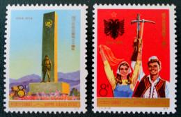 30 EME ANNIVERSAIRE DE LA LIBERATION DE L'ALBANIE 1974 - NEUFS ** - YT 1953/54 - MI 1217/18 - DENTELES 11 1/2 - 11 - 1949 - ... People's Republic