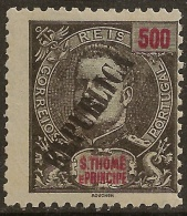 St. Thomas And Prince - 1913 KIng Carlos Overprinted REPUBLICA 500 Réis - St. Thomas & Prince